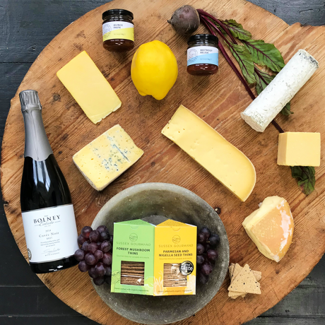 Sussex Cheeses With Bolney Cuvee Noir