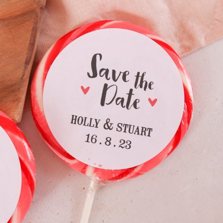 Personalised 'Save the Date' Giant Lollipops