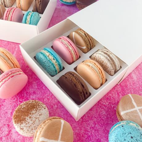 Easter Macaron Selection Box of 12