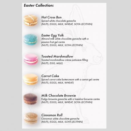 Easter Macaron Flavour Menu