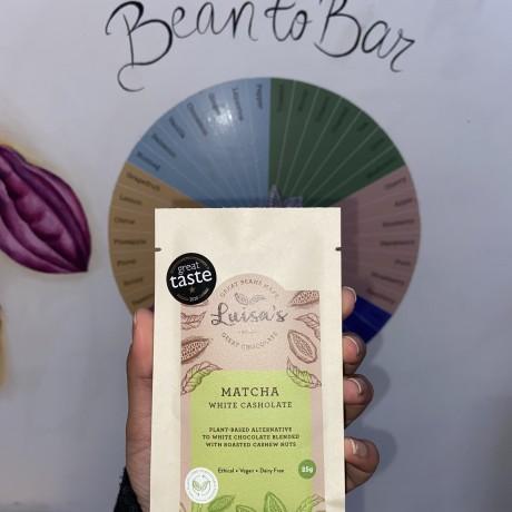 Vegan Matcha Green Tea Casholate bar/ Milk chocolate alternative made with cashew nuts
