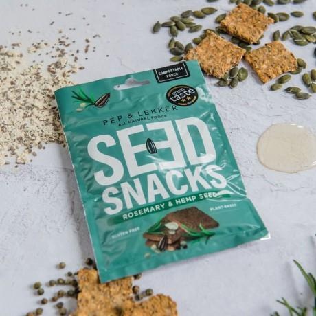 Pep & Lekker Rosemary & Hemp Seed Snacks - 15 all natural ingredients