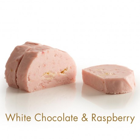 White Chocolate & Raspberry Fudge