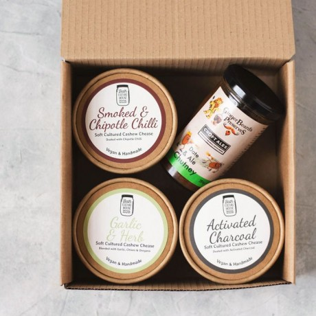Cultured Soft Cashew Cheese & Chutney Selection Box