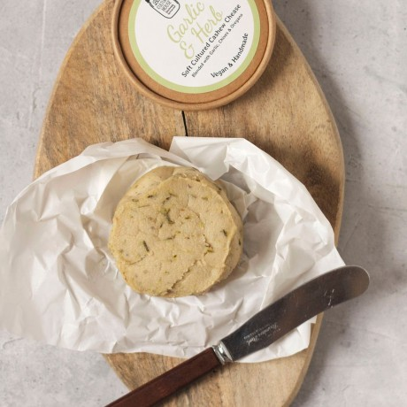 Handmade Garlic & Herb Cashew Cheese