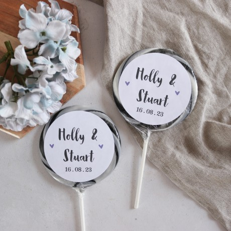 Personalised 'Traditional' Giant Wedding Lollipops