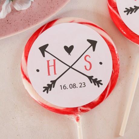 Personalised 'Initials' Giant Wedding Lollipops