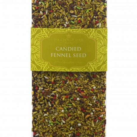 Candied Fennel Seed Dark Chocolate Bar