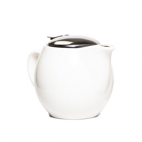 700ml White Ceramic Tea Pot With Removable Strainer