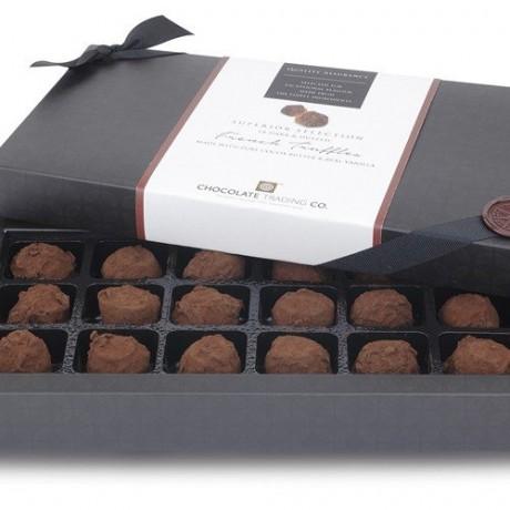 18 French Chocolate Truffles, Chocolate Gift Box