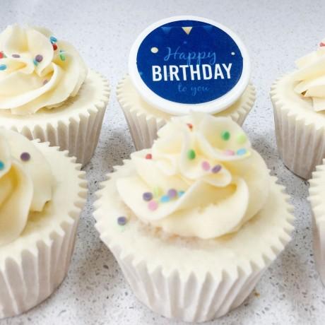 Happy Birthday Message Cupcake Gift