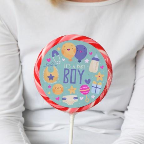 Baby Boy Giant Lollipop