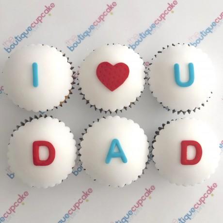 Love You Dad Cupcake Gift Box