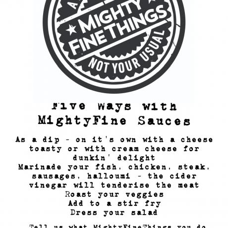 MFT Sauce Suggestions