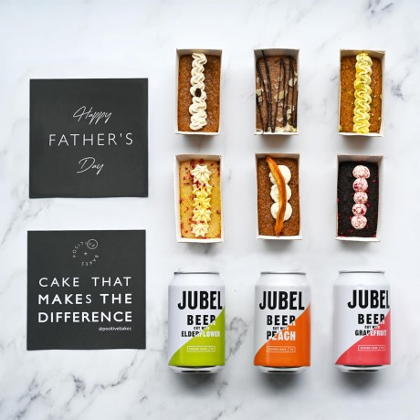 Cake & Beer Father's Day Gift Set