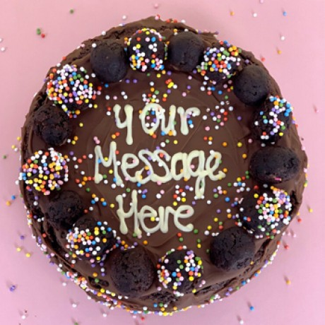 Personalised Brownie Cake
