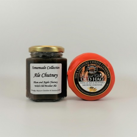 Cheshire Cheese Company Old Hag Wincle Ale & Mustard Cheddar and Plum, Apple and Old Peculiar Ale Chutney