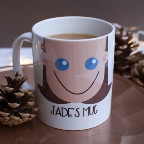 Personalised Face Mug for Girls