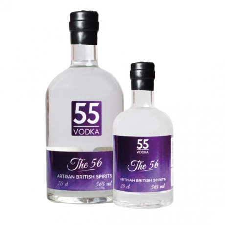 70cl & 20cl The 56 Vodka