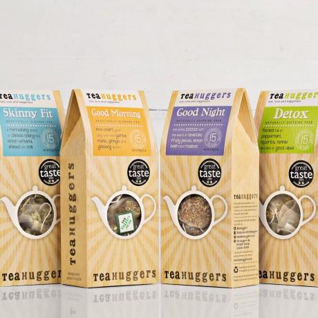 Award Winning Tea Huggers Tea Collection - 4 boxes of tea