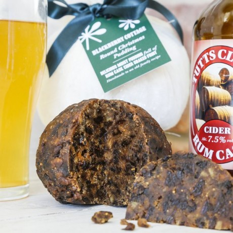 Rum Cask Cider Christmas Pudding Traditional Round