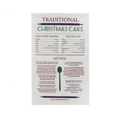christmas cake recipe tea towel