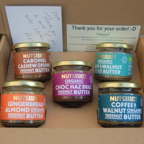 5x Organic Nut Butter 'Try Me' Pack