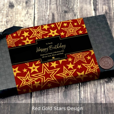 Red Gold Stars Design