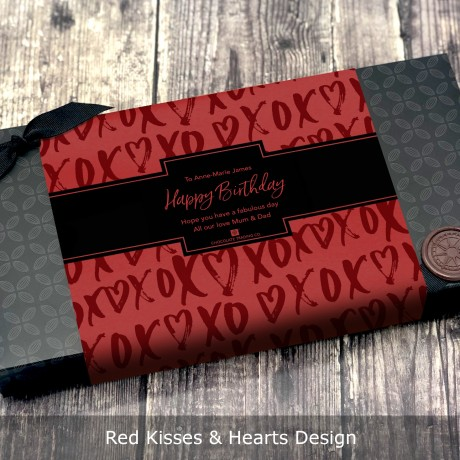 Red Kisses & Hearts Design