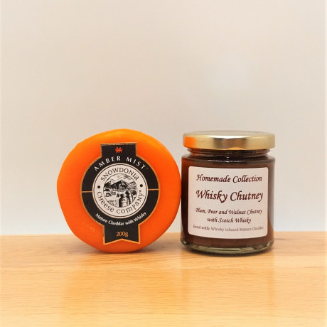 Whisky Cheese and Chutney
