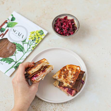 Pastrami style slices vegan