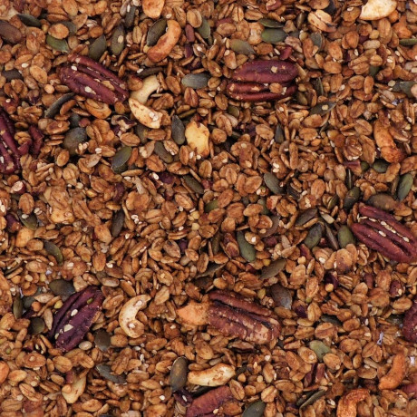 Pecan and maple close up