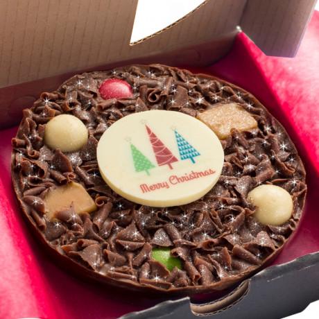 "Close up of 4"" Mini Christmas Pizza"