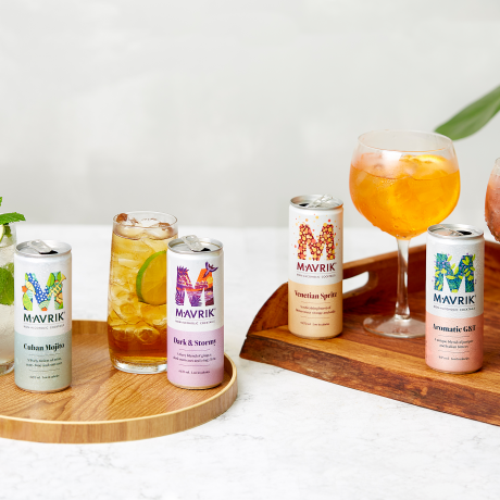 All four of our delicious cocktails