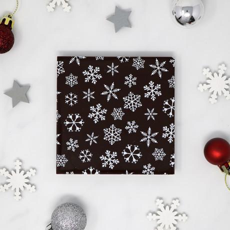 Snowflake Dark Chocolate Bar