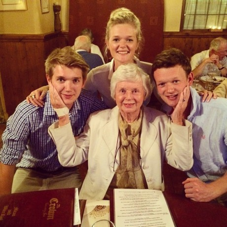 Granny Tigg and her grandchildren
