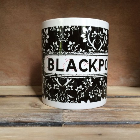Black and White Damask Personalised Mug
