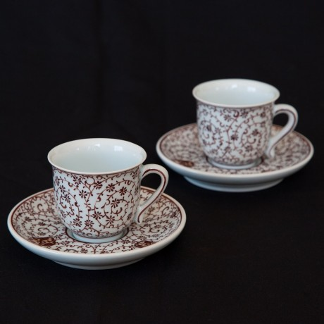 Handmade Ceramic Fincans (Turkish coffee cup) - Set of 2