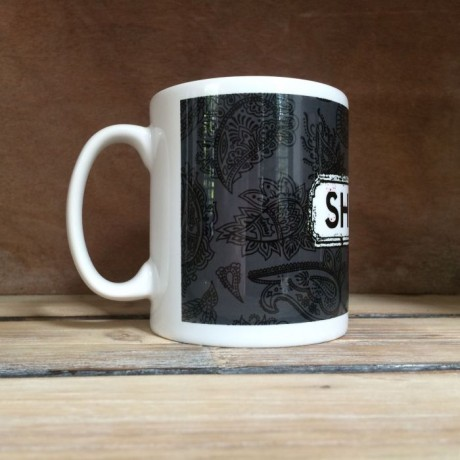 Black Paisley Personalised Mug