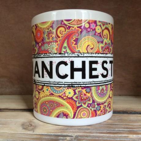 Multicoloured Paisley Personalised Mug