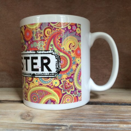 Multicoloured Paisley Personalised Mug