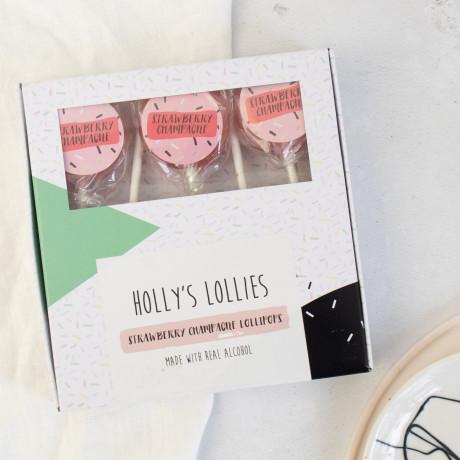 Alcoholic Strawberry Daiquiri Rum Lollipops