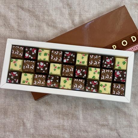 Christmas Mosaic Chocolates in Milk Chocolate