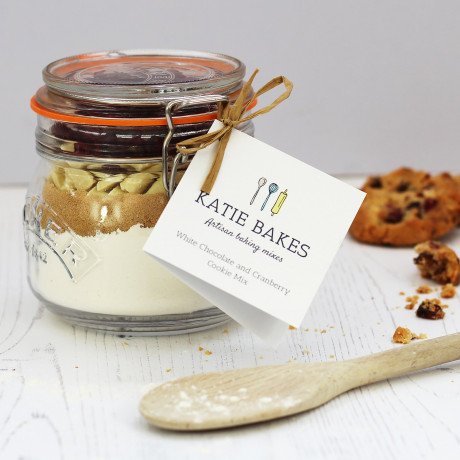 White Chocolate and Cranberry Cookie Mix Jar
