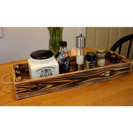 Large Rustic Condiment Tray