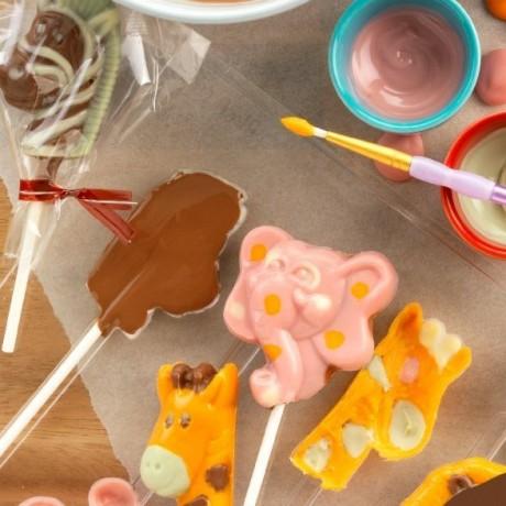 Safari Animal Chocolate Lollipop Kit