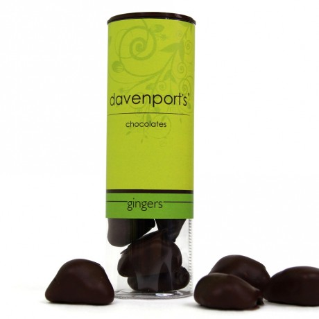 Dark Chocolate Vegan Gingers tube