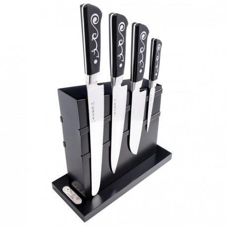 I.O.Shen Knife 4 Piece Set with Block