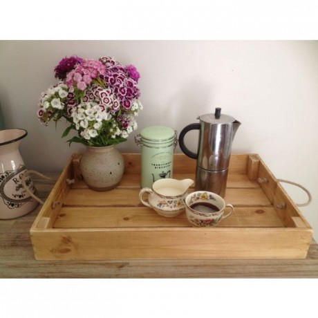 Large rustic tray - medium oak