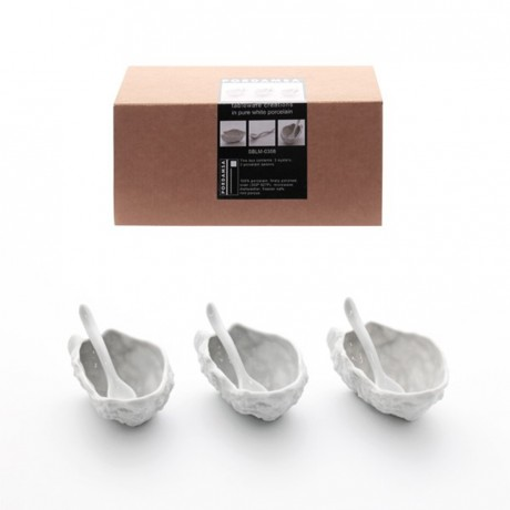 Porcelain Oyster Shell Gift Set with Spoons